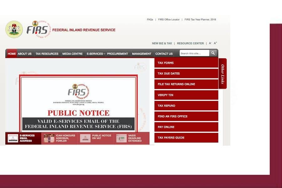 FAQ Federal Inland Revenue Service FIRS Recruitment