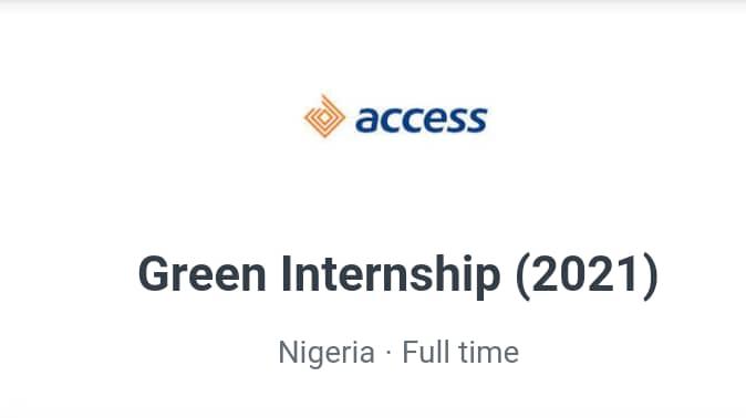 Access Bank Green Internship Programme