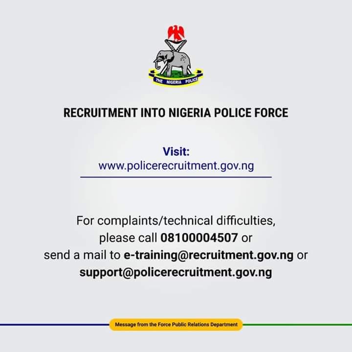 www.policerecruitment.gov.ng Registration Portal